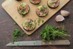 Zucchini bites Stock Image
