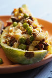 Zucchini boat closeup Stock Photography