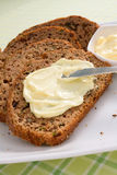 Zucchini Bread With Butter Royalty Free Stock Images