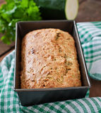 Zucchini bread with cheese Stock Image