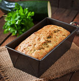 Zucchini bread with cheese Stock Photo