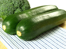 Zucchini and broccoli, closeup Stock Photography