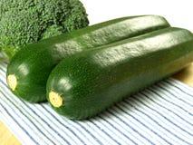 Zucchini and broccoli, closeup Stock Photography