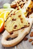 Zucchini cake with raisins Stock Image