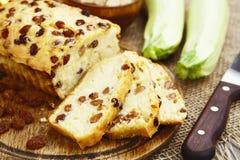 Zucchini cake with raisins Stock Photography
