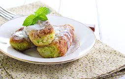 Zucchini cakes Royalty Free Stock Photography