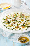 Zucchini Carpaccio Royalty Free Stock Photo