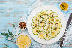 Zucchini Carpaccio Royalty Free Stock Photography
