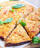 Zucchini and carrot frittata Royalty Free Stock Photography