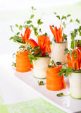 Zucchini and Carrot Roll-Ups Royalty Free Stock Photos