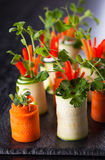 Zucchini and Carrot Roll-Ups Royalty Free Stock Image