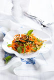 Zucchini and carrot salad Royalty Free Stock Photography