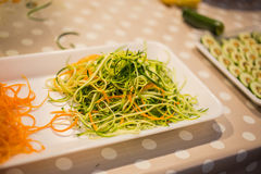 Zucchini and carrots strips Stock Images