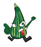 Zucchini cartoon character Stock Image