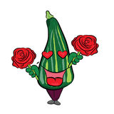 Zucchini cartoon character Royalty Free Stock Image