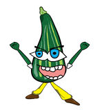 Zucchini cartoon character Royalty Free Stock Images