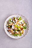 Zucchini, cauliflower and feta salad Royalty Free Stock Images