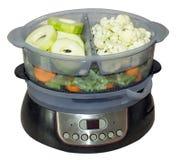 Zucchini, cavolfiore, fagiolini e carote Fotografia Stock Libera da Diritti