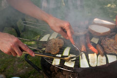 Zucchini and cevapcici Stock Photography