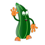 Zucchini character. Illustration cartoon isolated Royalty Free Stock Image