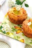 Zucchini-cheese muffins Stock Photo