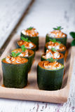 Zucchini Cheese And Sweet Paprika Royalty Free Stock Photos