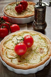 Zucchini and cheese tart Royalty Free Stock Photo