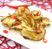 Zucchini with chili Royalty Free Stock Photography