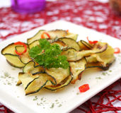 Zucchini with chili Royalty Free Stock Images