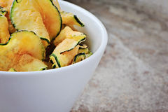 Zucchini chips, to the left Stock Images