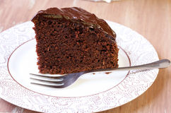 Zucchini chocolate cake Stock Photos