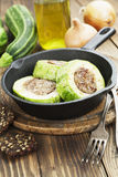 Zucchini con carne Immagini Stock