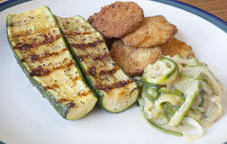 Zucchini Cooked Three Ways Royalty Free Stock Photography
