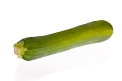 Zucchini or courgette isolated on white Stock Photos