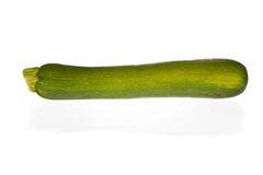 Zucchini or courgette isolated on white Stock Images