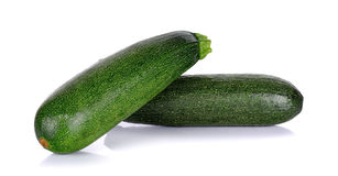 Zucchini courgette isolated on the white background Stock Image