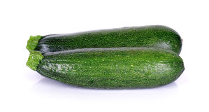 Zucchini courgette isolated on the white background Royalty Free Stock Photos
