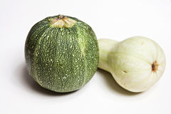 Zucchini-Courgette, pumpkin. Studio  isolated Royalty Free Stock Image