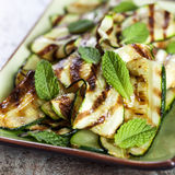 Zucchini or Courgette Salad with Mint Stock Images