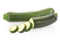 Zucchini or courgette sliced Stock Image