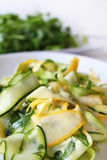 Zucchini or courgette summer fresh salad Stock Photo