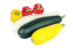 Zucchini courgette and sweet pepper Royalty Free Stock Photos