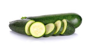 Zucchini courgette on the white background. Zucchini courgette isolated on the white background Stock Image