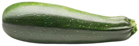 Solated zucchini. Two zucchini or courgettes isolated on white. Zucchini or courgettes isolated on white background with clipping path stock photo