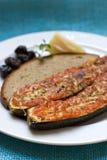 Zucchini cozido com parmeggiano imagem de stock royalty free
