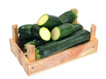 Zucchini in crate Royalty Free Stock Photography