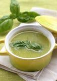 Zucchini cream soup Stock Photos