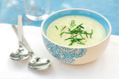 Zucchini Cream Soup Royalty Free Stock Photography