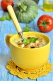 Zucchini cream soup. Stock Images