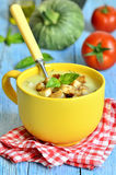 Zucchini cream soup. royalty free stock images